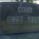 Mary VIrginia and William Keen's Grave Stone
