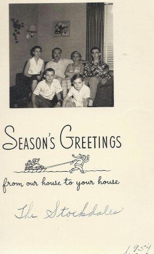 Stockdale Christmas - 1954