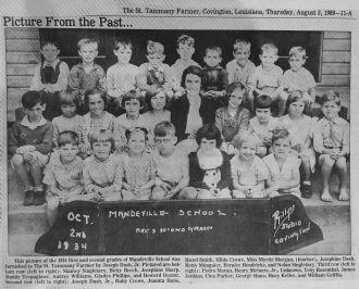 Mandeville, LA School Picture, 1934