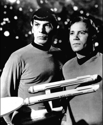 Commander Spock and Captain James T. Kirk