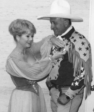 Debbie Reynolds with a Cowboy