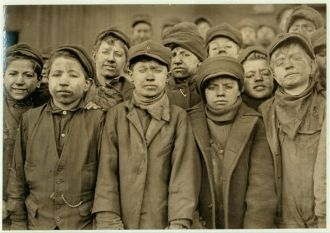 Breaker Boys from Hughestown Borough Pennsylvania