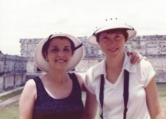 Naomi and Amanda S. Stevenson in Merida, Mexico.