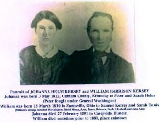 William and Joanna (Helm) Kersey, 1850