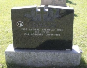 Adrienne Cimon gravesite