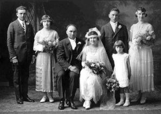 Fritz & Clara (Kirscht) Weldele, 1924 Minnesota