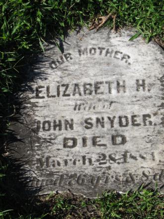 Elizabeth (Hinkel) Snyder