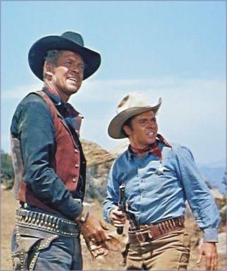 Audie Murphy and Dan Duryea.