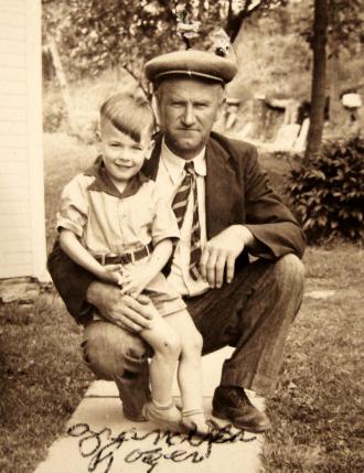 """Grandpa Roger"" with Grandson"
