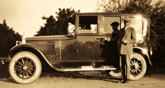 Unknown Man and Car