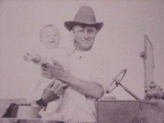 Baby Herb & Dad Merle Badger