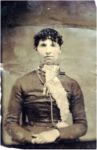 Tin type of Young woman