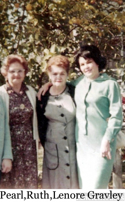 Pearl, Ruth, and Lenore Gravley