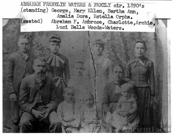 Abaraham F. Waters Family