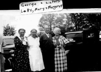 George, Mary, Margaret, & Letitia Huck, 1935