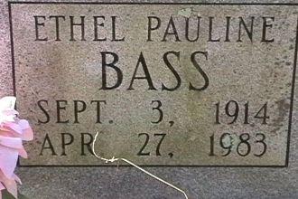 Ethel Pauline Hopson Bass Grave site
