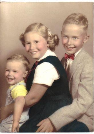Fred & Berta Shirey's three children - family photo