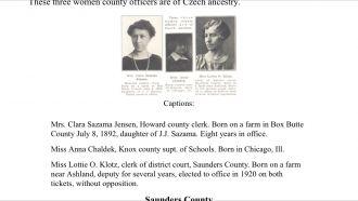 Jensen, Chaldek, and Klotz women
