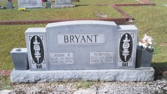 Norsia and John R. Bryant Jr gravesite