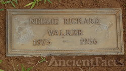 Nellie Jane  (Rickard ) Walker (Headstone)