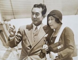 Sessue Hayakawa with his wife (46 years.)