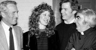 Milo O'Shea, Michael O'Keefe, Paul Newman and Susan Newman.