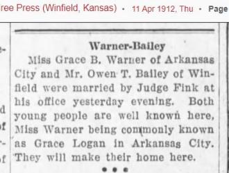 Owen T Bailey's 1st wife