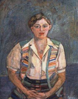 Simone, portrait peint par Gilbert Corsia