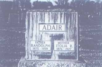 Randolph & Ltolia Adair Headstone
