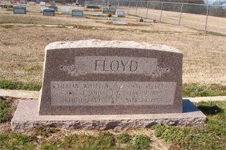 Marker for Earl Floyd and Lillian (Whitten) Floyd
