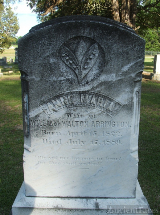 Anna Maria Alston Arrington gravesite