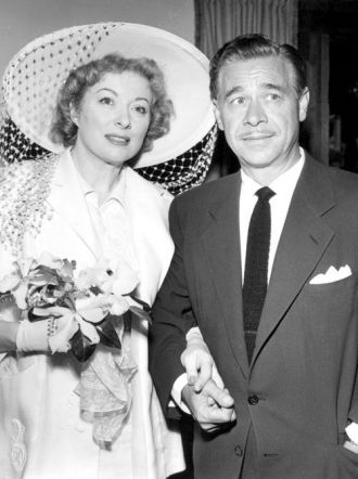 Greer Garson and Buddy Fogelson's wedding picture.