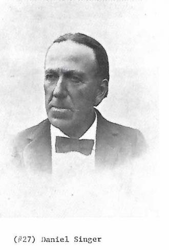 Daniel Singer, a member of the original Sanger/Singer family from Germany
