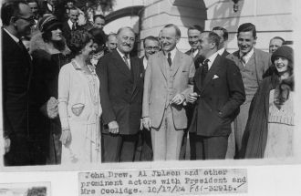 Al Jolsen, John Drew, and  President Coolidge