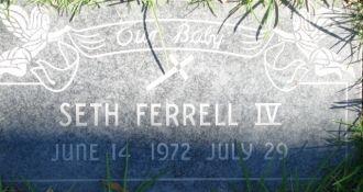 Seth Ferrell IV gravesite