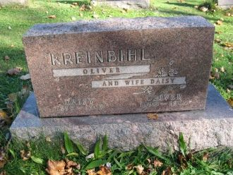 Oliver Kreinbihl gravesite