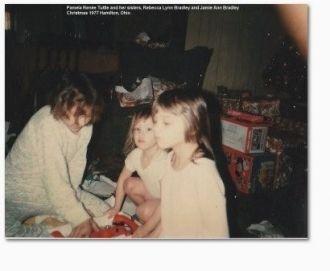 Pam, Becky and Jamie Bradley, 1977