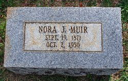 Nora Joana (Smith Rickard) Muir headstone
