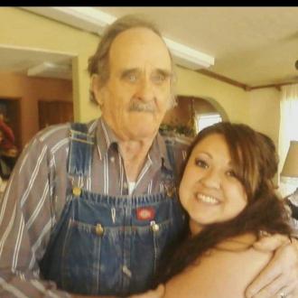 Grandpa and granddaughter Vanessa Yaya Allen