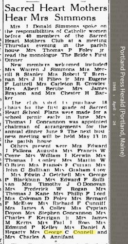 Louise Marie Hagen-Connell--Portland Press Herald (Portland, Maine) (24 apr 1948)