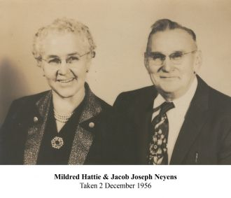 Jacob and Mildred Neyens 1956