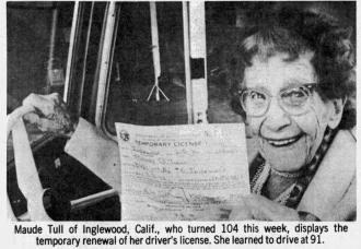 Maude Tull's Drivers License
