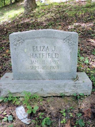 Eliza (Bradbury) Hatfield Grave, West Virginia
