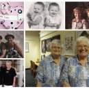 Collage of Evelyn & Eleano Berry twins