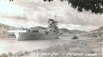 USS Lexington in Panama Canal