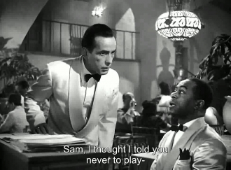 Dooley Wilson and Humphrey Bogart