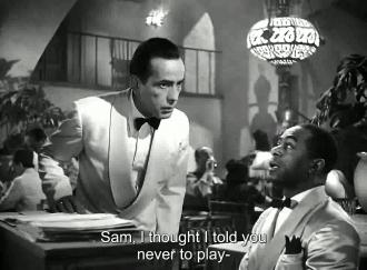 Dooley Wilson and Humphrey Bogart