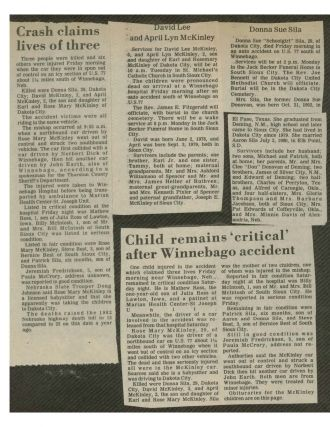 Donna Sue Crull Newspaper Article