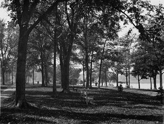 Riverside Park toward city, Neenah, Wis.