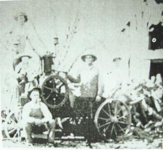 John Wilson Carl (1885-1969) and His Wood Saw in Dade County, Missouri